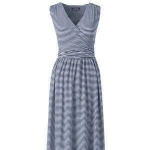 Lands' End Sleeveless Surplice Maxi Dress 2X NWT